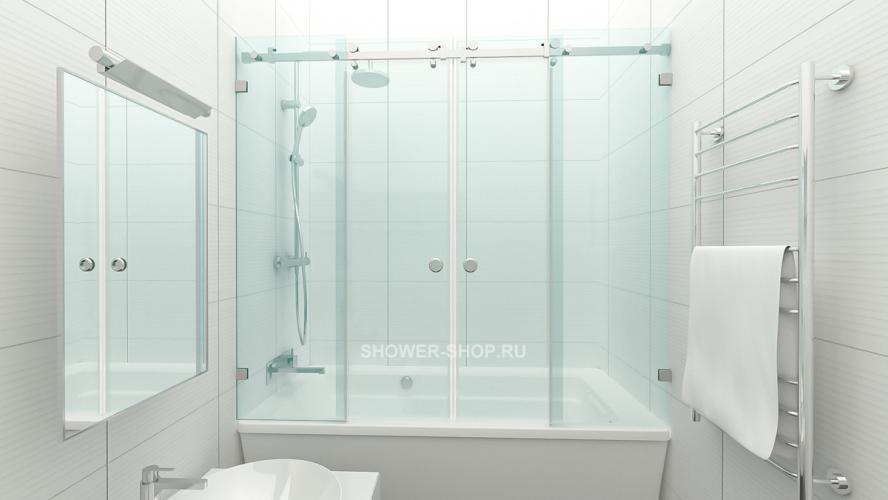Фурнитура для шторки на ванну двустворчатая №711